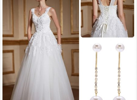 Inspirations des robes de mariée avec perles