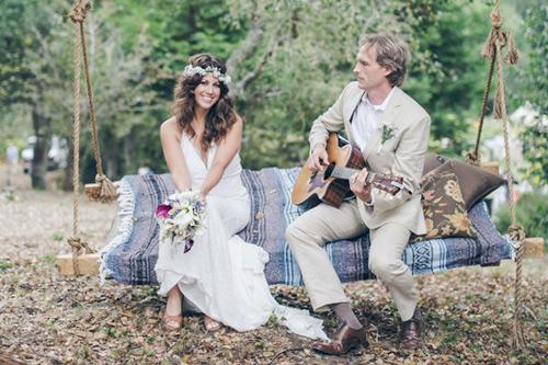 mariage de style bohème chic