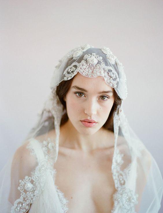 voile de mariée vintage dentelle